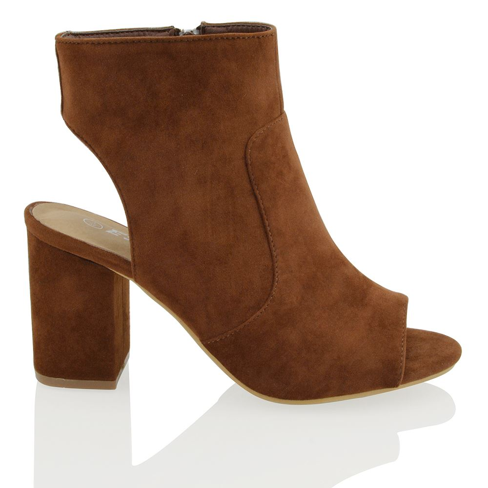 Mid Block Heel Shoe With Ankle Strap