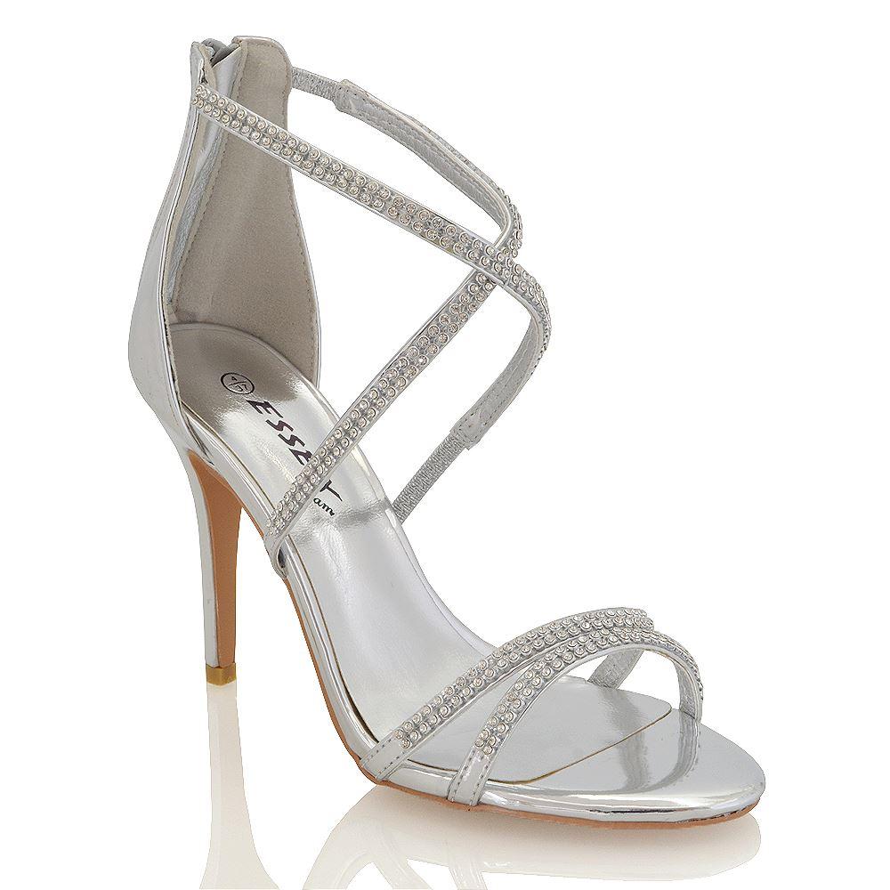 Amazing New Womens Diamante Bridal Ladies Sparkly Bridesmaid Ballerina Pumps Shoes Size | EBay