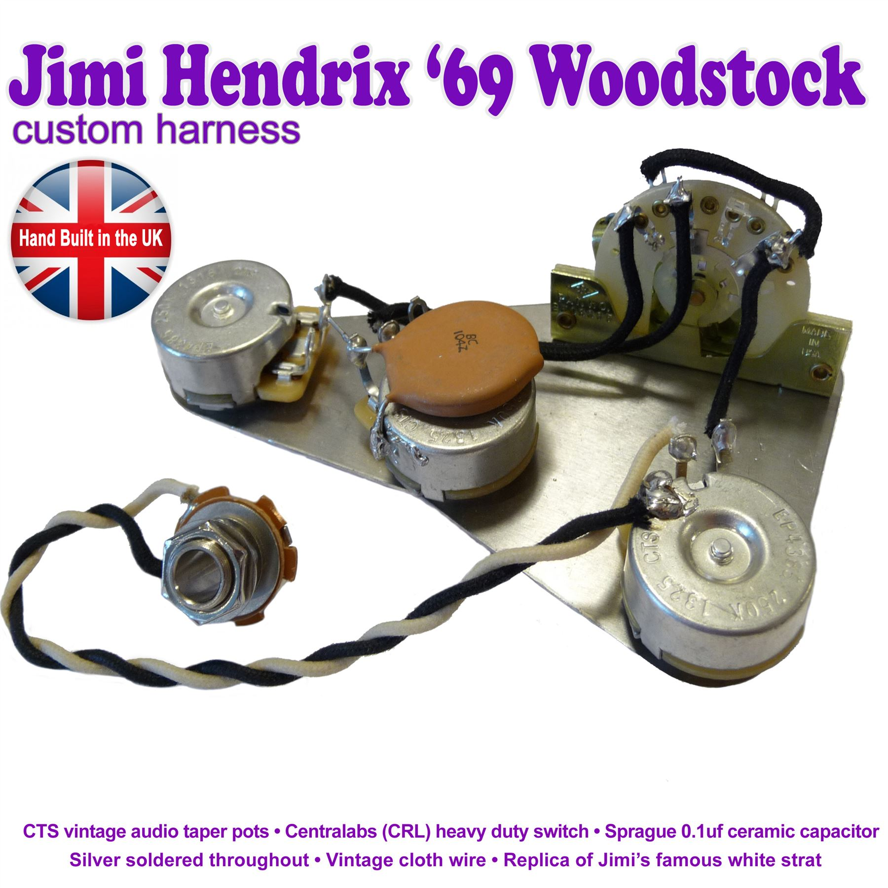 jimi hendrix reproduction stratocaster strat wiring kit