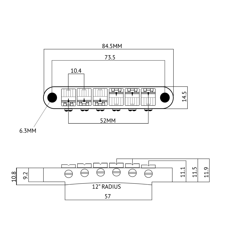 tune o matic electric guitar bridge for epiphone gibson. Black Bedroom Furniture Sets. Home Design Ideas