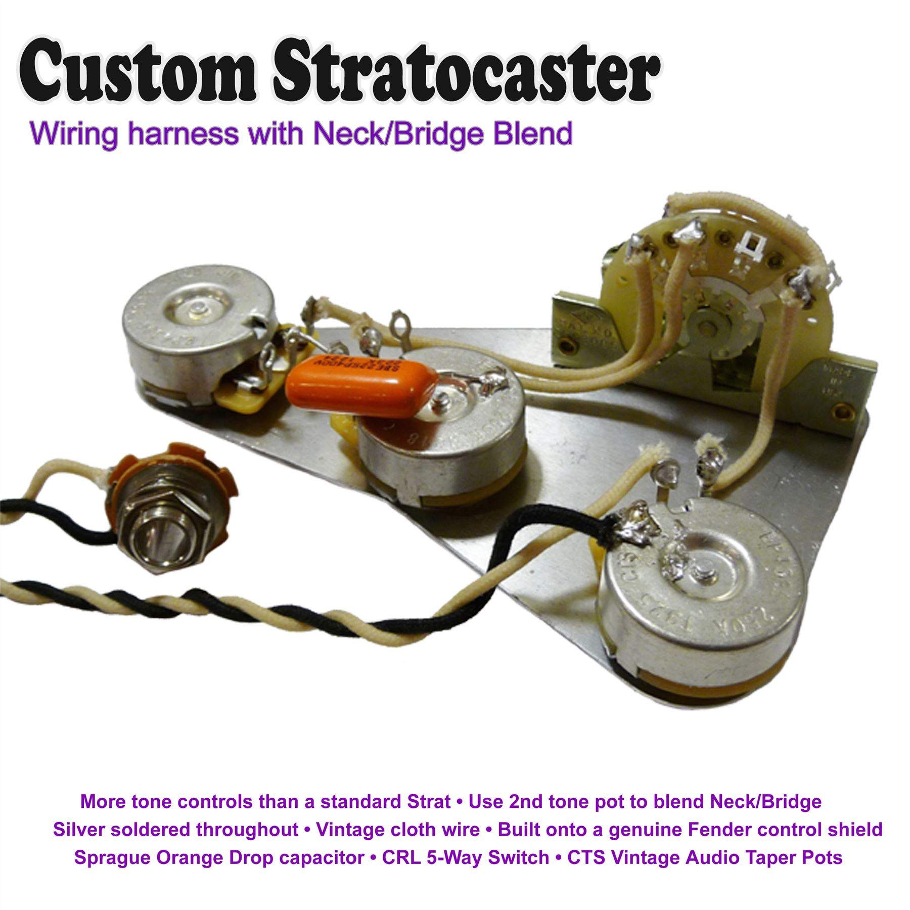 Custom Wiring Harness Uk : Fezz parka pre wired stratocaster wiring kit with neck