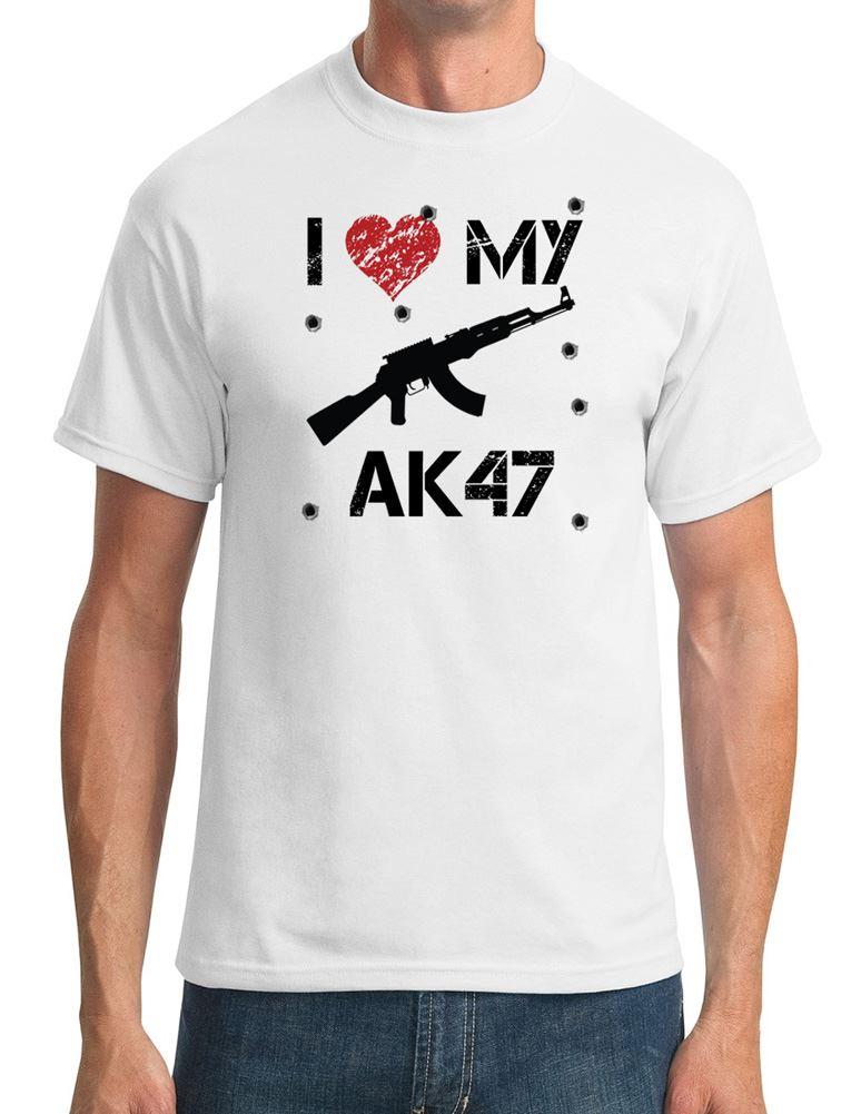 I Love My Ak47 Funny Mens T Shirt Ebay
