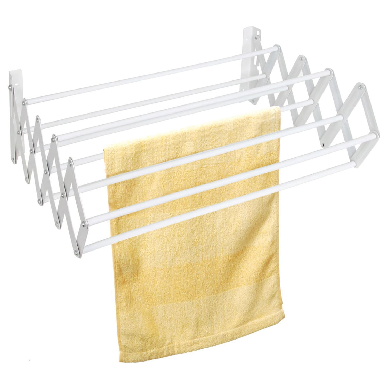 wall mounted extendible laundry clothes wash line airer. Black Bedroom Furniture Sets. Home Design Ideas