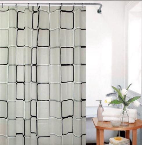 Modern Peva Water Proof Bathroom Shower Curtain Standard Extra Long With Hooks Ebay