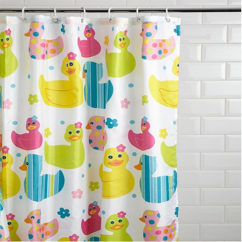 new kids quackers duck design childrens shower curtain non