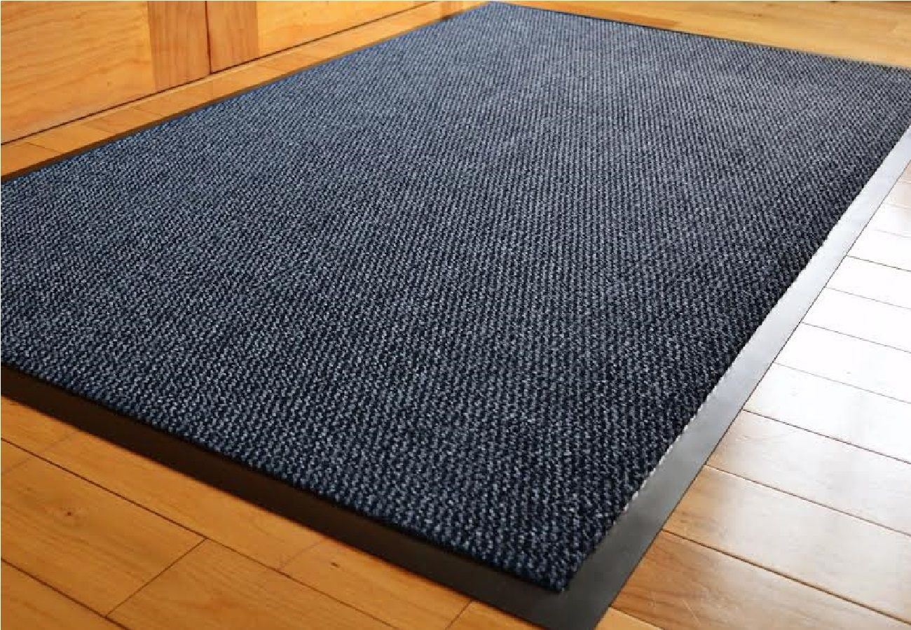 home office hall heavy duty barrier mat runner non slip black rubber rug ebay. Black Bedroom Furniture Sets. Home Design Ideas