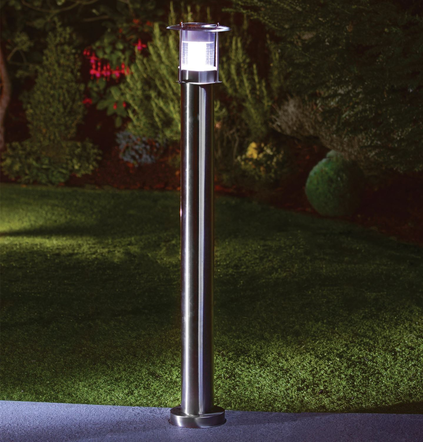 90cm stainless steel outdoor patio driveway garden led for Outdoor post lights