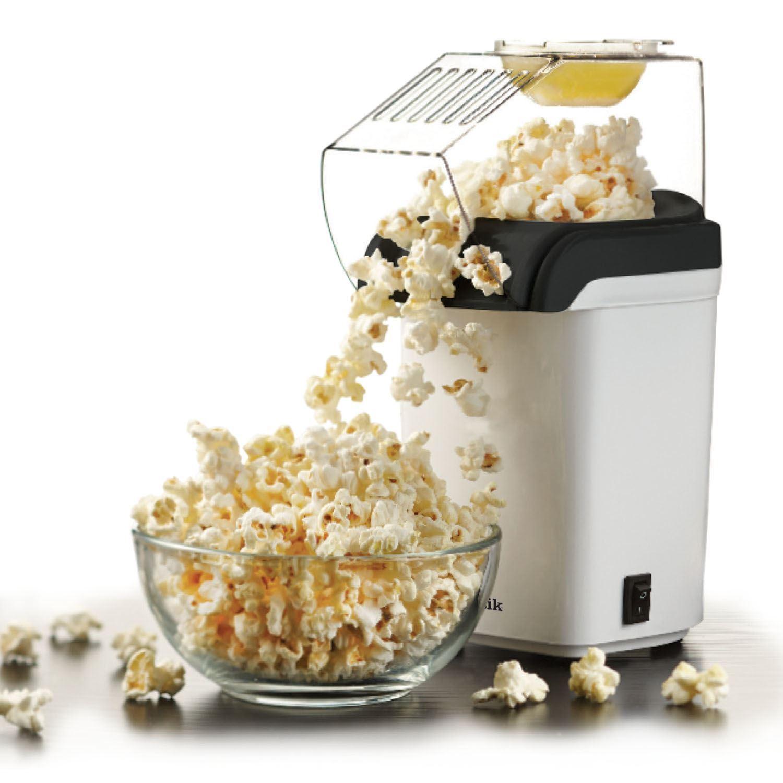 white electric popcorn maker fat oil free 1200w hot air. Black Bedroom Furniture Sets. Home Design Ideas