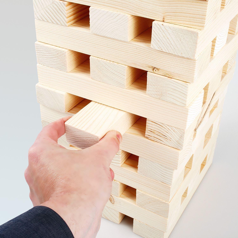 1.2M GIANT WOODEN TUMBLING JENGA TOWER BLOCKS GARDEN GAME
