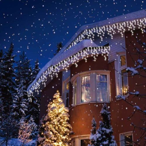 240/360/480/720 INDOOR OUTDOOR CHRISTMAS WHITE LED ICICLE