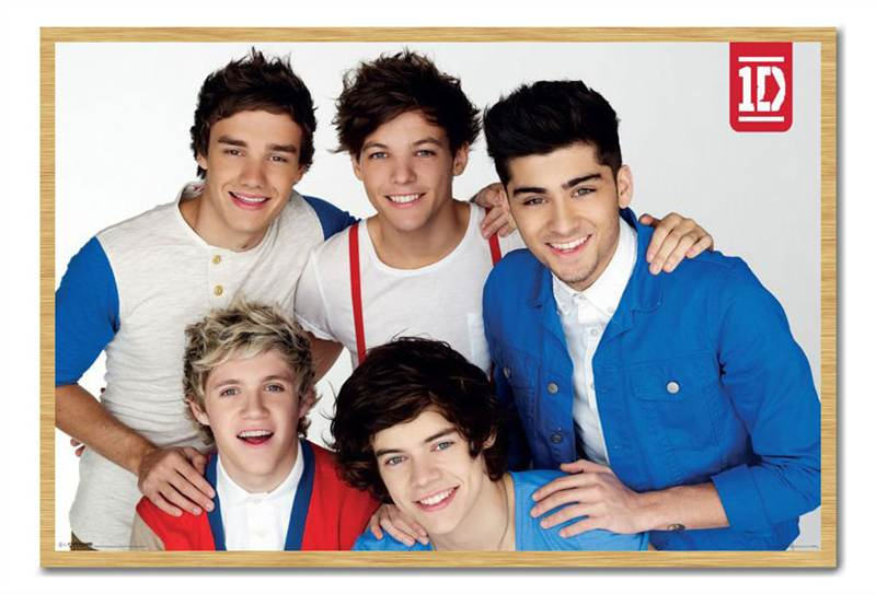 Framed-One-Direction-Red-White-Blue-Poster-Ready-To-Hang-Frame