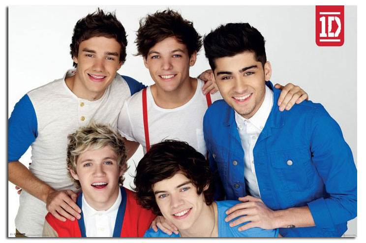 One Direction 2012 Posters ONE Direction RED Whit...