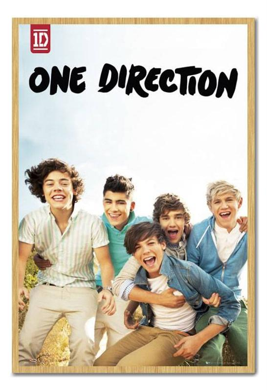 Framed-One-Direction-Album-Poster-Ready-To-Hang-Choice-Of-Frame-Colours