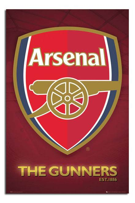 Arsenal-FC-The-Gunners-Club-Crest-Large-Maxi-Wall-Poster-New