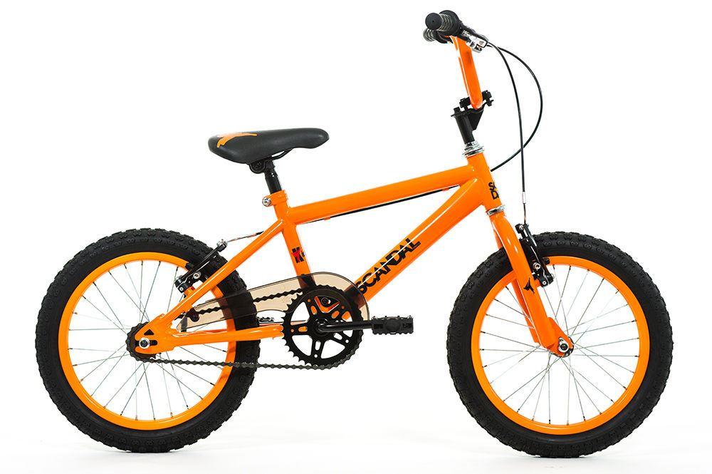 Kick Bmx Bike Scandal Boys Girls Kids Orange 16 Inch By