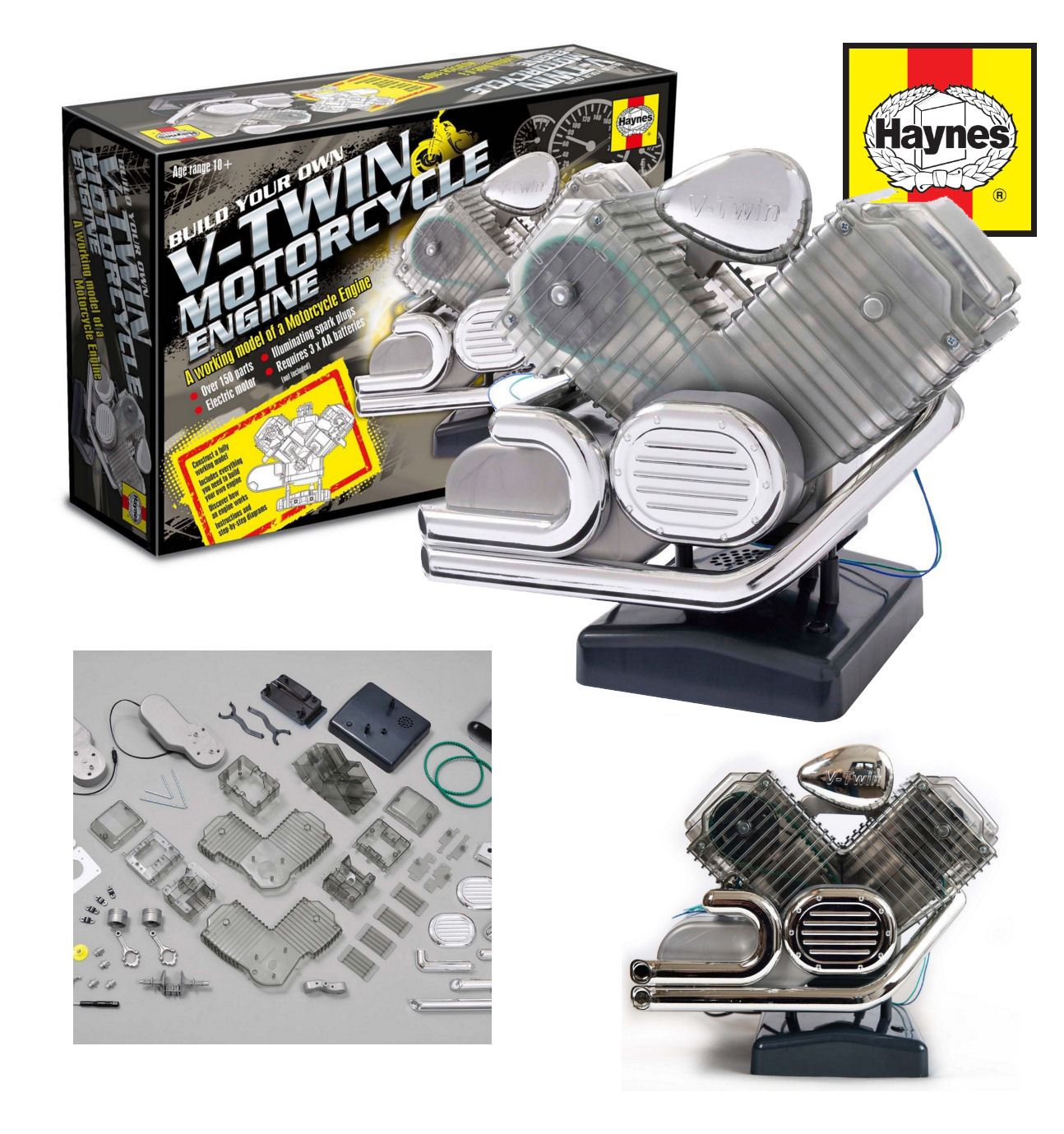 Motorcycle Engine Kits : Haynes motorcycle v twin engine kit build your own model