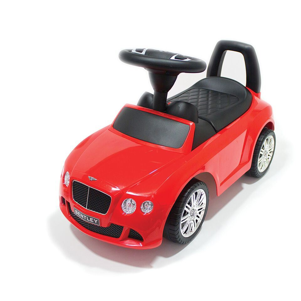 bentley continental speed gt childrens ride on push along toy car kids