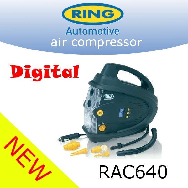 ring rac640 12v auto digital air compressor wheel tyre. Black Bedroom Furniture Sets. Home Design Ideas