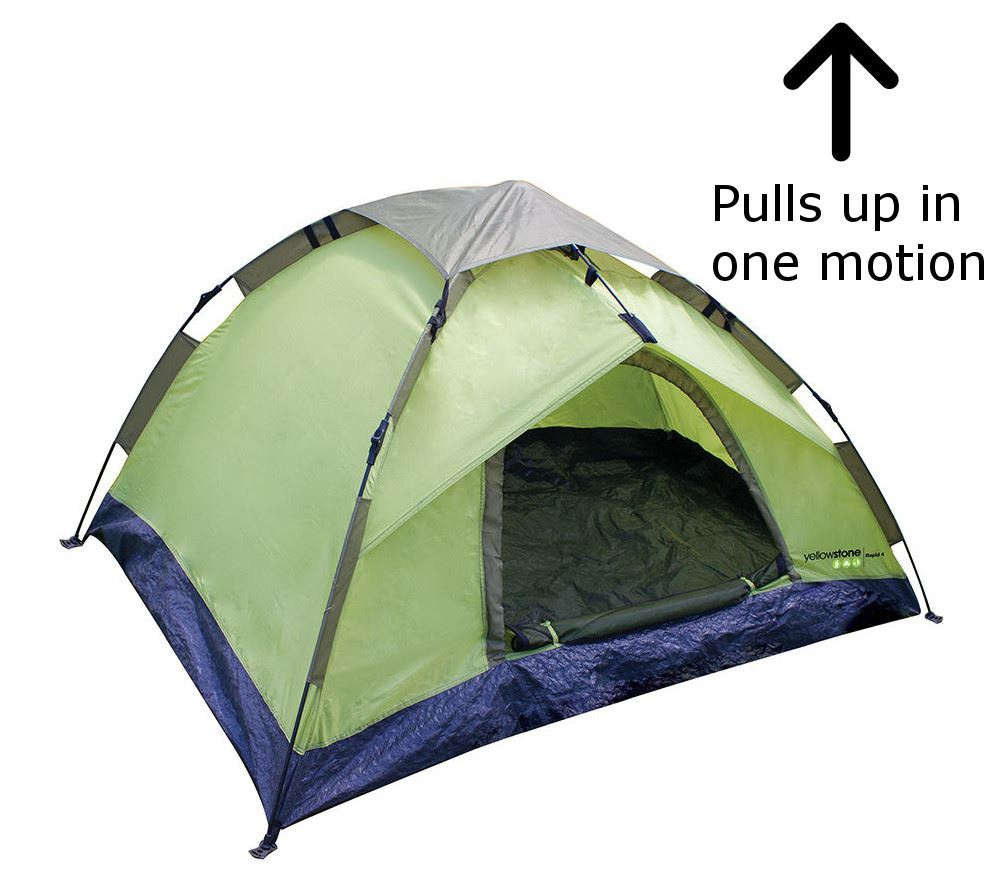 4 man two person pop up camping tent easy quick fast pitch rapid ebay. Black Bedroom Furniture Sets. Home Design Ideas
