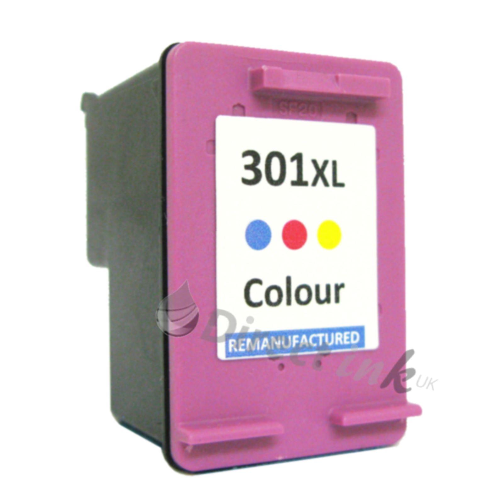 HP 301XL Couleur Cartouche D'Encre Pour Imprimantes Deskjet 3000