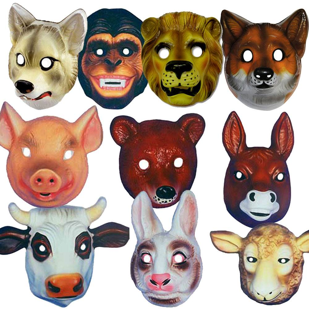 Animal-Kingdom-Masks-PLASTIC-LARGE