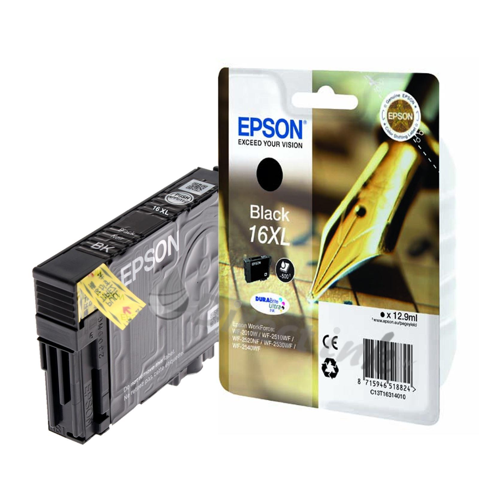 genuine epson t1631xl black ink cartridge for epson workforce wf 2660dwf. Black Bedroom Furniture Sets. Home Design Ideas