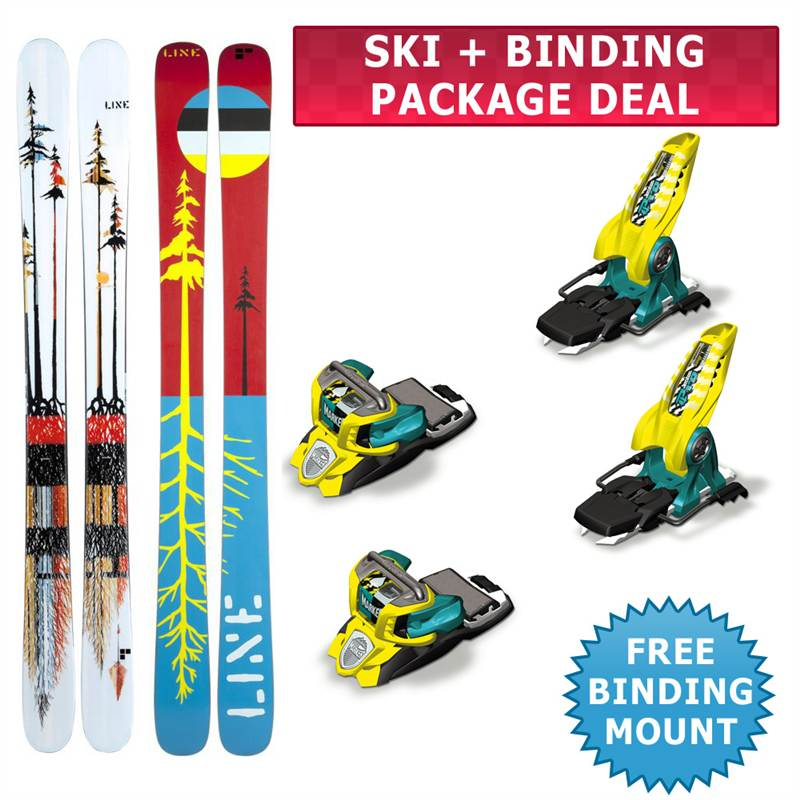 Line Sir Francis Bacon Skis 2013 Marker Jester 18 Pro