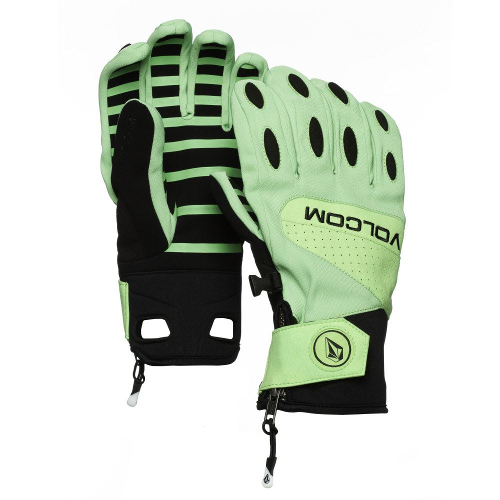Male gloves ebay - Image Is Loading Volcom Usstc Pipe Mens Gloves 2015 Electric Green