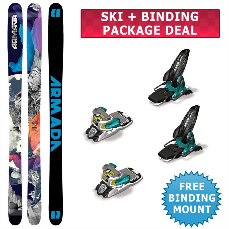 Armada TST Skis 2013 + Marker Jester 16 Bindings White