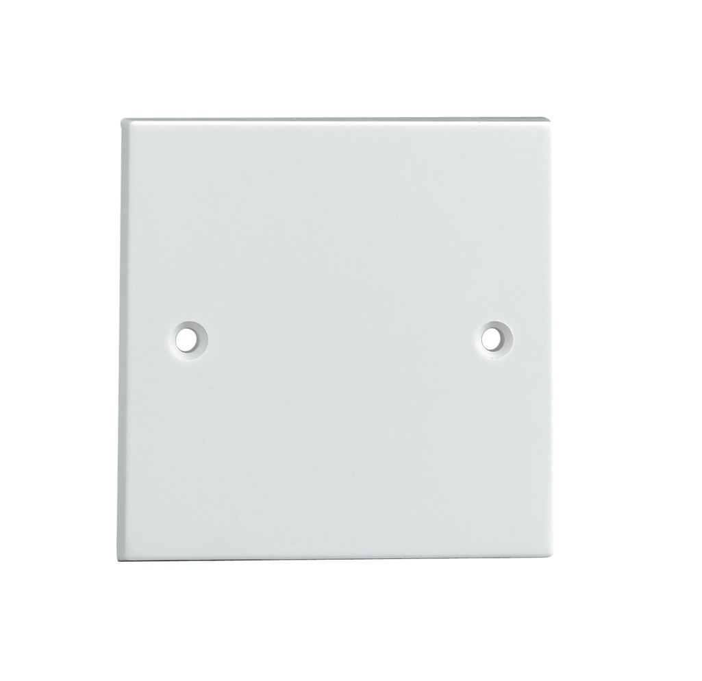 White Plug Electric Mains Wall Socket Blanking Plate Cover