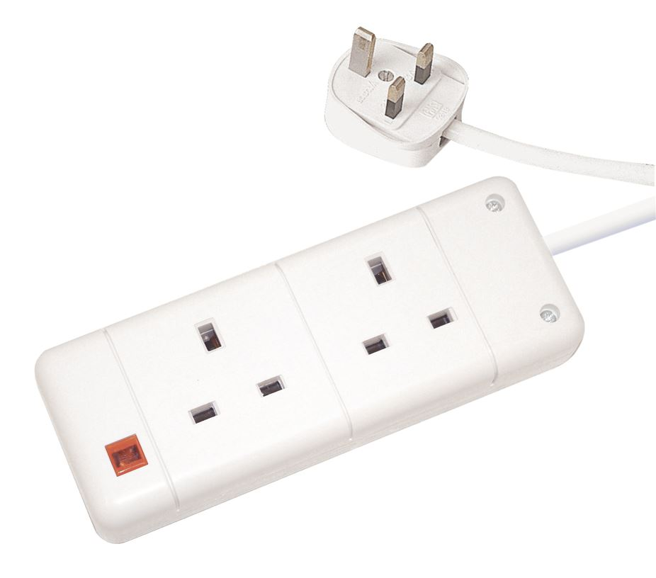 uk plug wall socket extension lead with neon indicator ebay. Black Bedroom Furniture Sets. Home Design Ideas