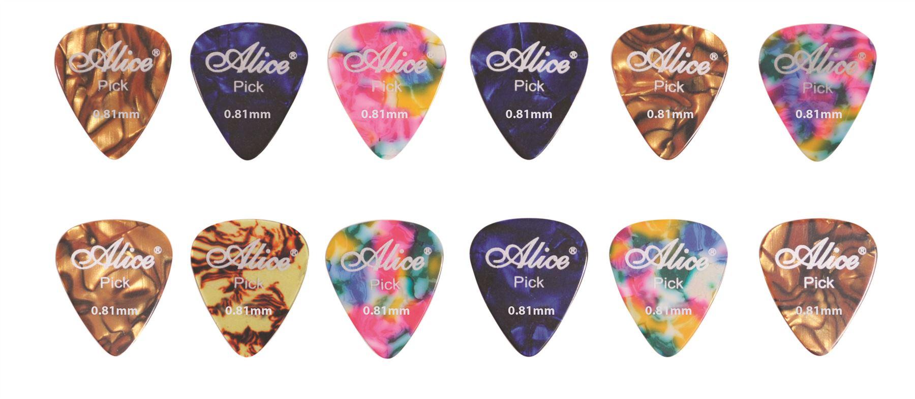 12 assorted colour celluloid guitar picks 3 designs ebay. Black Bedroom Furniture Sets. Home Design Ideas