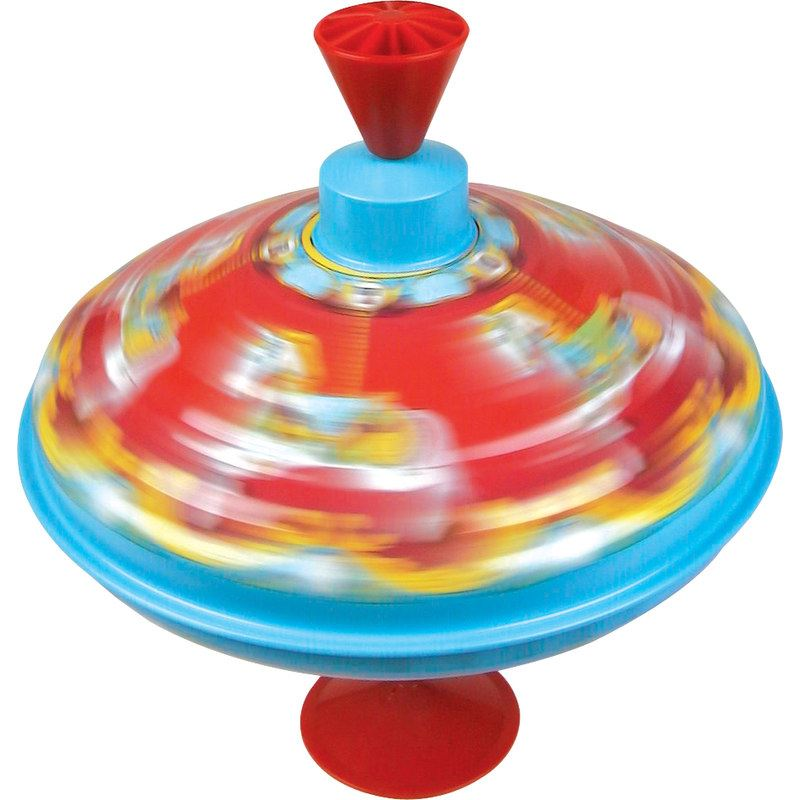 Top Childrens Toys : Traditional colourful tin humming spinning top classic