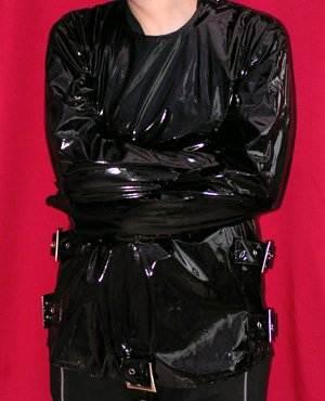 Phaze Clothing Black PVC Buckle Gothic Fetish Sub Medical Straight ...