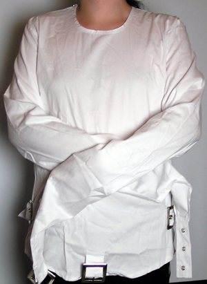Phaze Clothing White Canvas Buckle Gothic Fetish Sub Medical ...