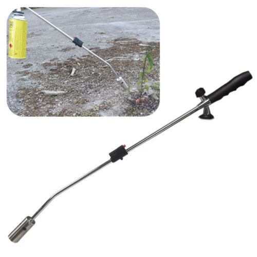 new portable gas weed killer wand plant burner garden blaster blowtorch with gas ebay. Black Bedroom Furniture Sets. Home Design Ideas