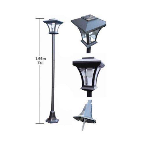 new 1 6m solar led outdoor garden security lamp post light. Black Bedroom Furniture Sets. Home Design Ideas
