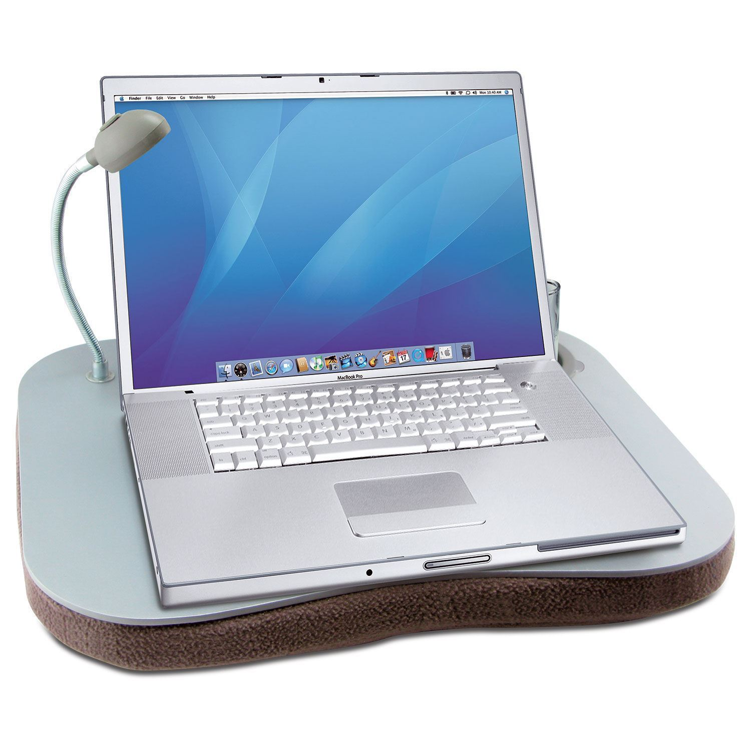 NEW LAPTOP TRAY EXTRA LARGE GREY PADDED CUSHION REST