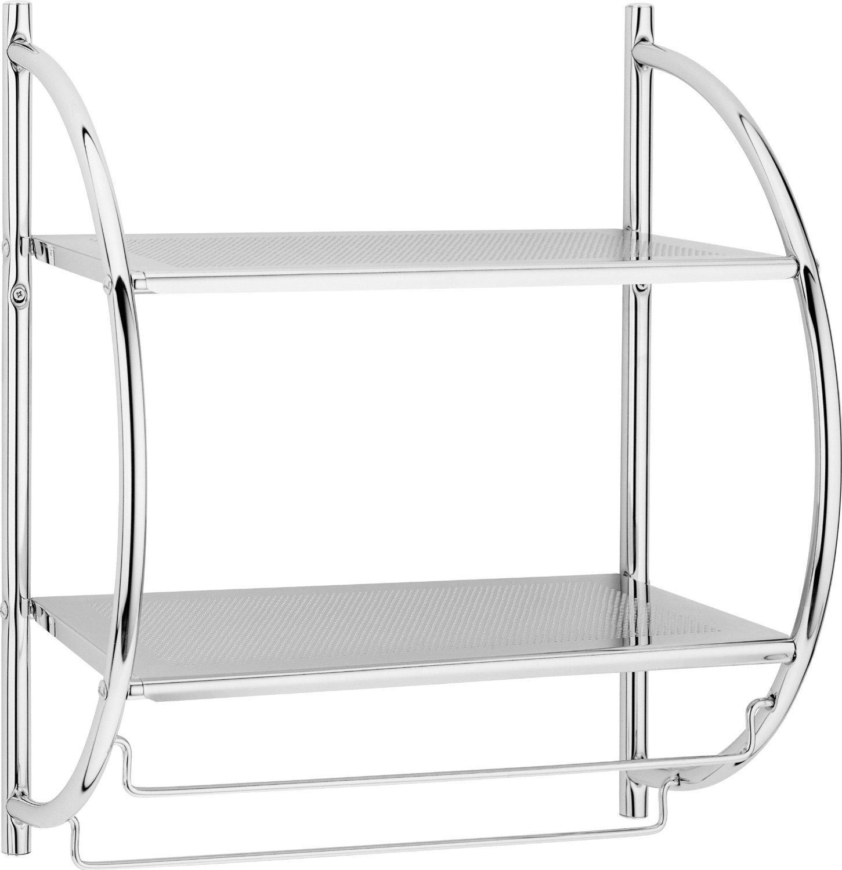 Chrome Stylish Towel Holder Rack Dshape Rack Towel Rail Bathroom New Storage Ebay