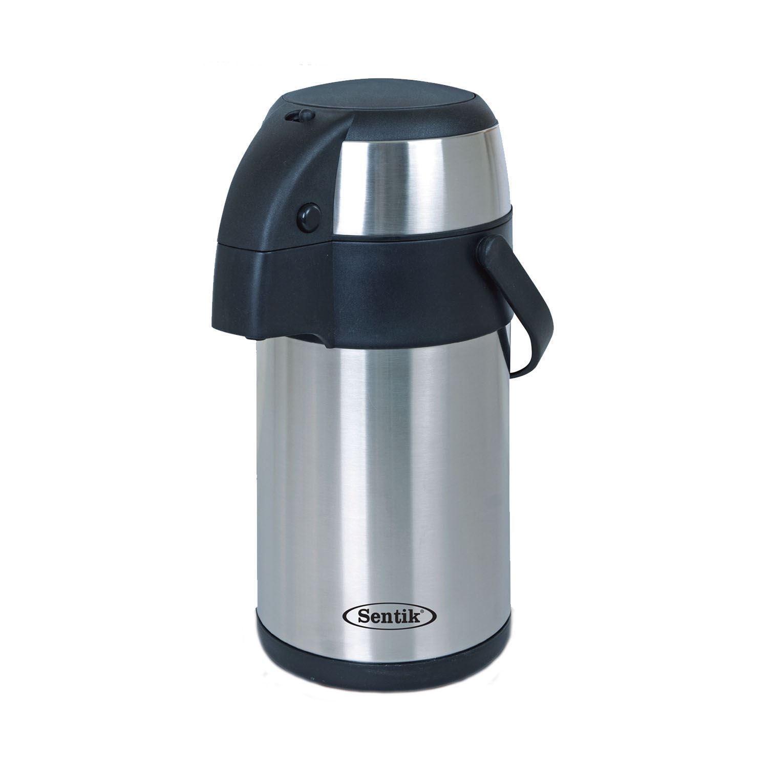 stainless steel pump action vacuum thermos airpot 3 5l hot cold tea coffee flask ebay. Black Bedroom Furniture Sets. Home Design Ideas