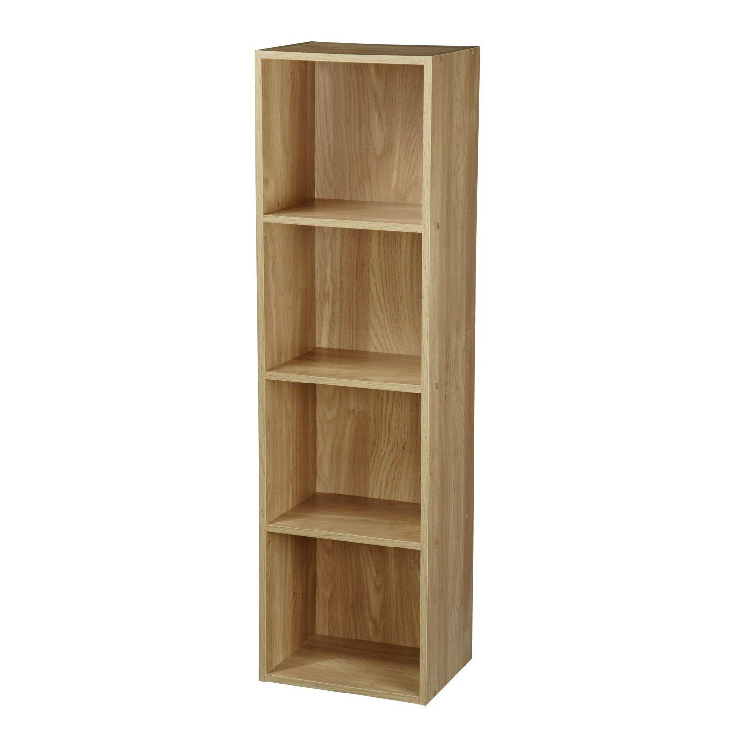 Wooden display storage units furniture shelve white oak