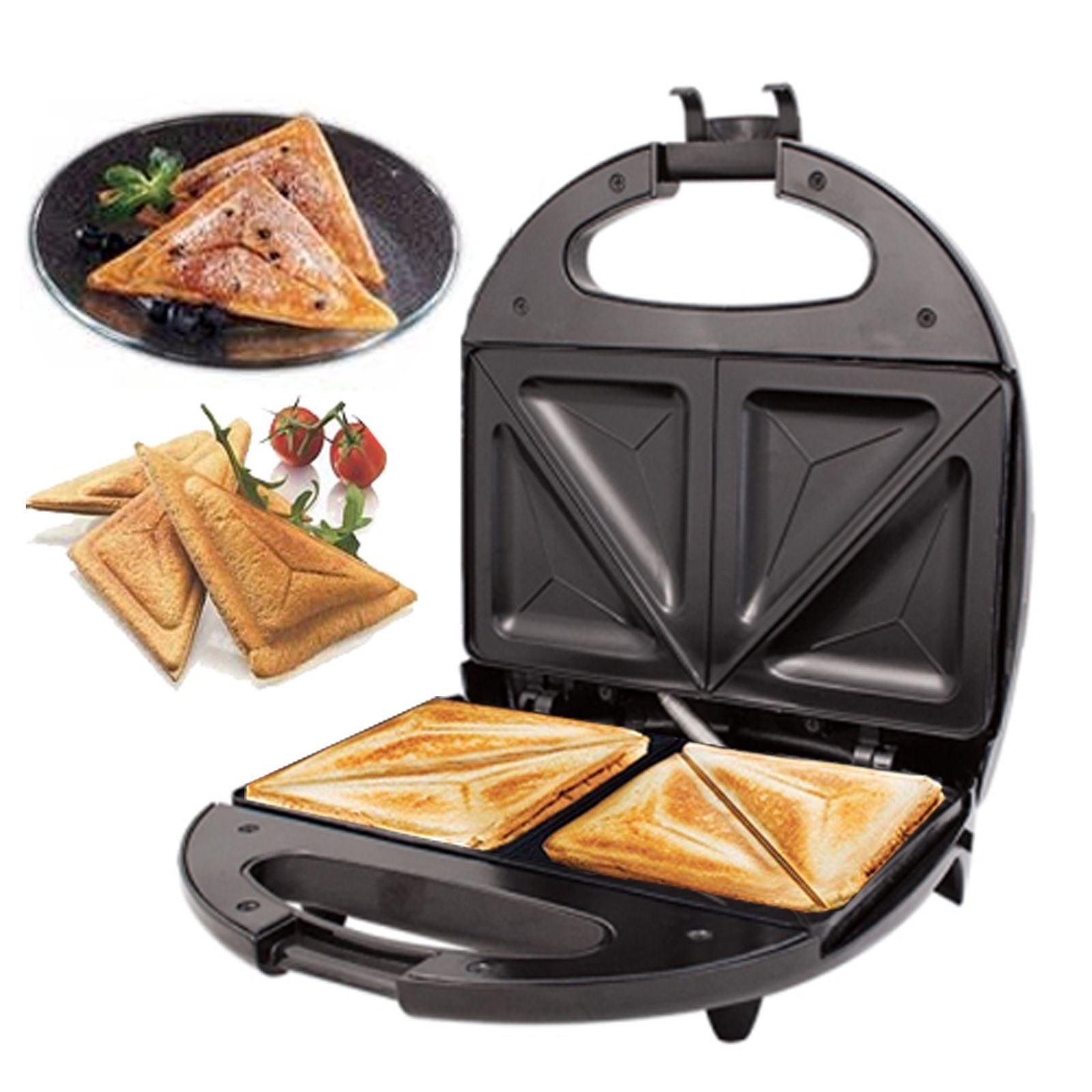 Electric Sandwich Maker ~ New black electric slice sandwich toast toaster maker