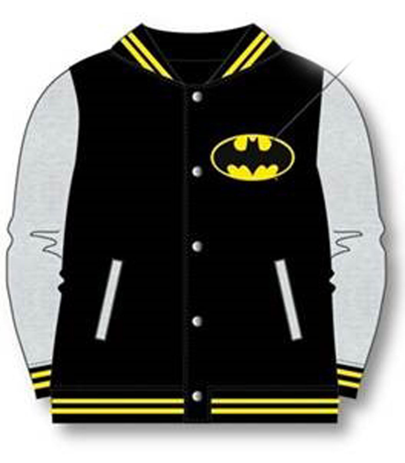 OFFICIAL KIDS BOYS BATMAN SUPERMAN BASEBALL JACKET COAT VARSITY ...