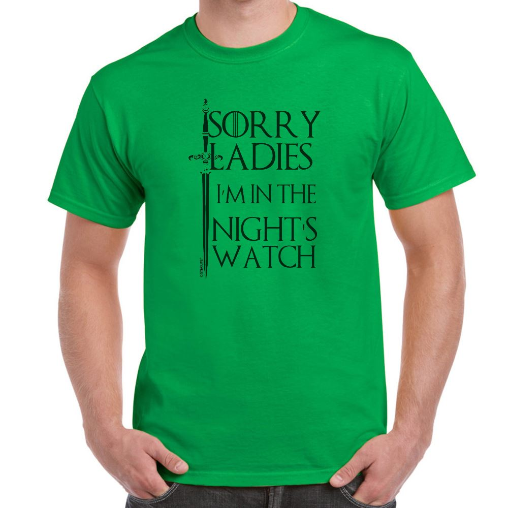 Mens Funny Sayings Slogans T Shirts I 39 M In Nights Watch