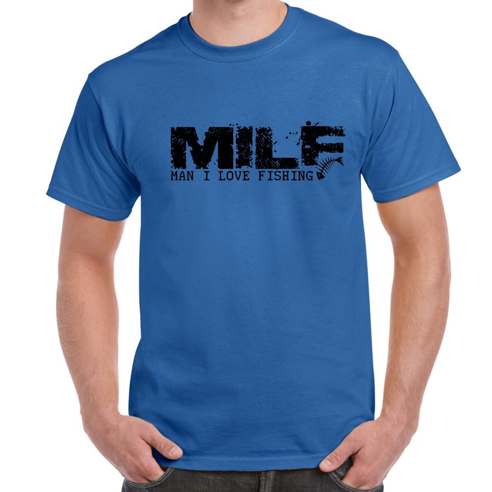 MILF-Man I Love Fishing-tshirt-Mens Funny Sayings Slogans T Shirts ...