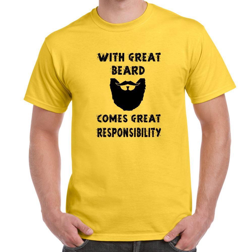 great beard great responsibility tshirt mens funny sayings