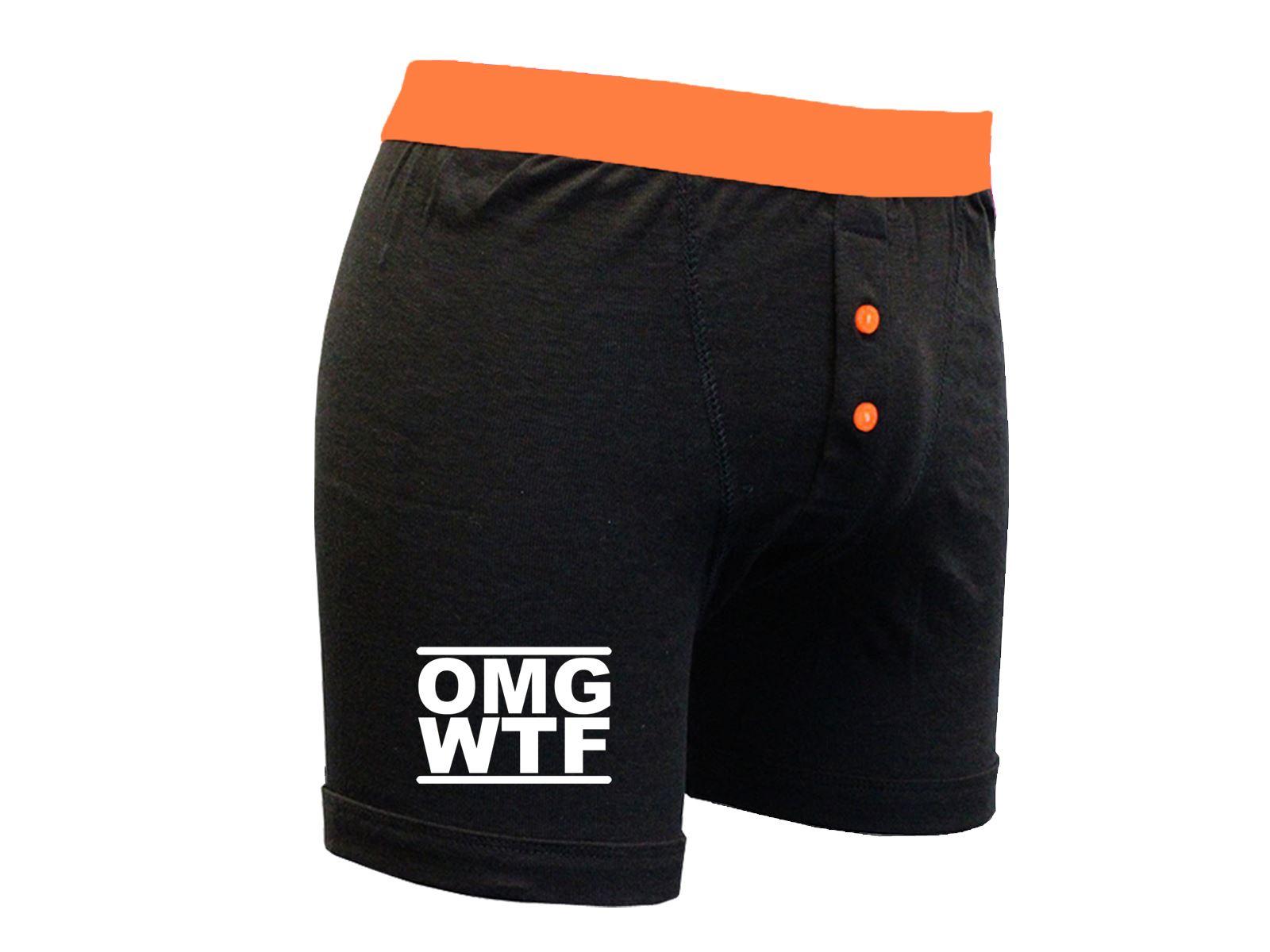 Omg Wtf Mens Funny Boxe...
