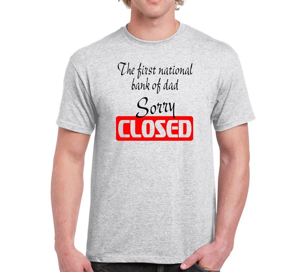 mens funny sayings slogans t shirts first national bank