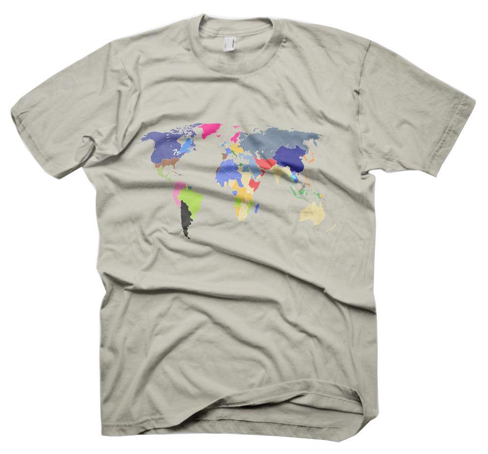 Mens Funny Sayings Slogans T Shirts-World Map tshirt | eBay