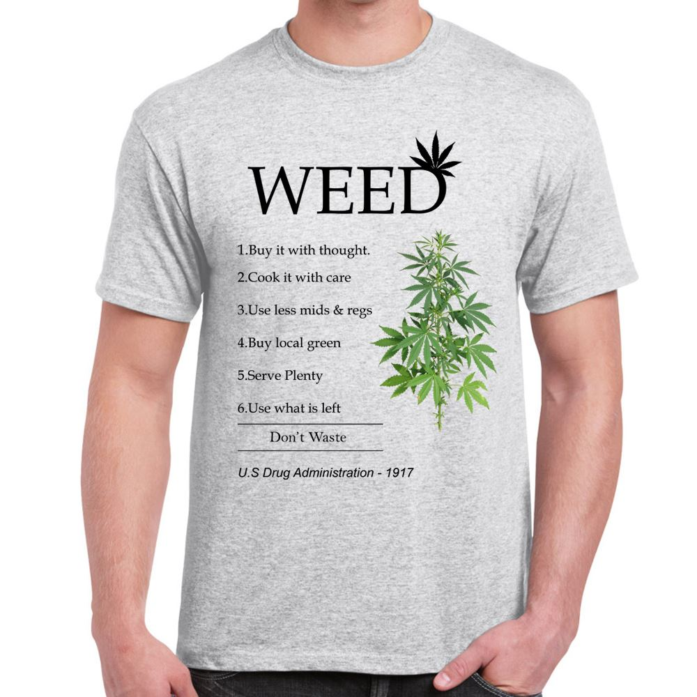 Mens Funny Sayings Slogans Novelty T Shirts Smoke Weed